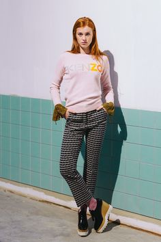 Color: there's nothing quite like it for affecting your mood. And in the case this season bright shades and creative combinations, we're feeling brave and bold and completely inspired. #pl-line #kenzo #schumacher #dsquared2 #fashion #look #outfit