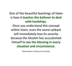 Beautiful teachings of Islam