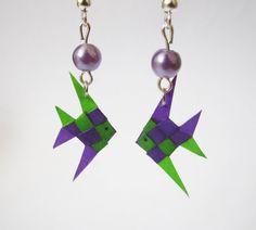 Boucles d'oreilles poissons en origami par ichimo sur Etsy, €7.00