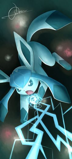 Freeze everything! The fresh snow has arrived! Glaceon c: - pokemon ice type Pokemon Gif, Pokemon Fan Art, Pokemon Games, Images Kawaii, Pokemon Mignon, Pokemon Eeveelutions, Pokemon Pictures, Anime Kawaii, Catch Em All