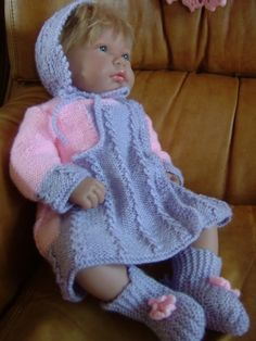 X Baby Born, Reborn Dolls, I Dress, Doll Clothes, Knitting Patterns, Crochet Hats, Couture, Layette, 36 Weeks