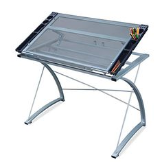 DEVAISE Drawing Table / Drafting Table with Tiltable Tempered Glass Top | Art Supply Direct