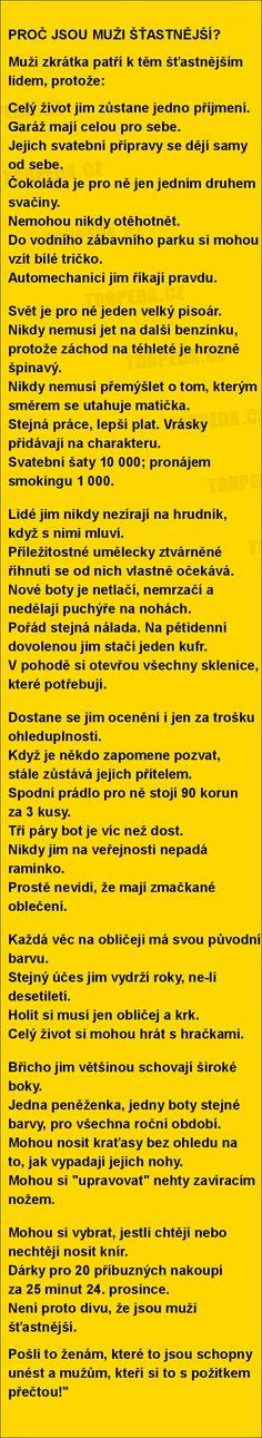 PROČ JSOU MUŽI ŠŤASTNĚJŠÍ? | torpeda.cz - vtipné obrázky, vtipy a videa
