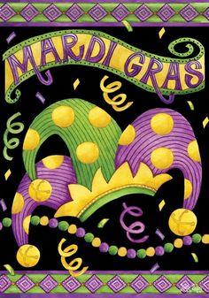 Mardi Gras House Flag