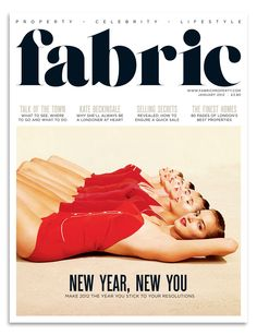 Fabric magazine redesign, Jan 2012