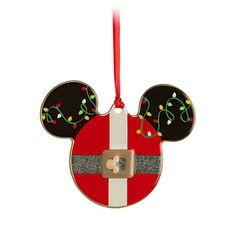 Mickey Icon Ornament - Santa
