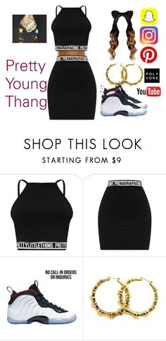 """What I Just Said!"" by qveenbaddie1 ❤ liked on Polyvore featuring NIKE"