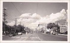 RP; Portage Avenue , WINNIPEG , Manitoba , Canada , 30-40s