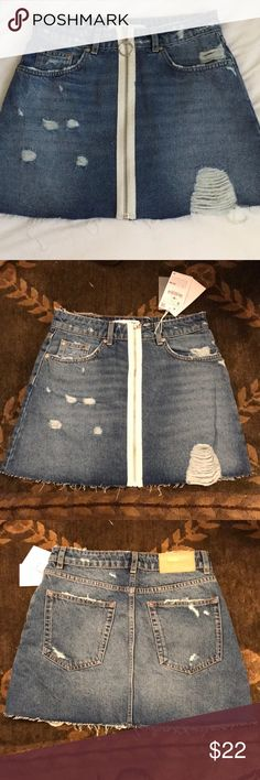 Size Small Trafaluc Denim wear Zara Jean Skirt Size Small Trafaluc Denimwear Zara Jean Skirt Zara Skirts Midi #bestplacesfordenimskirts
