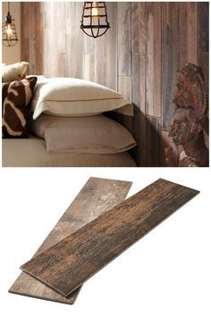 That gorgeous wood you see is actually porcelain tile! As you see, wood-look tile isn't just for floors. Now you can get the warm, rustic and textured look of a reclaimed wood wall in budget-friendly Marazzi tile found exclusively at The Home Depot. (scheduled via http://www.tailwindapp.com?utm_source=pinterest&utm_medium=twpin&utm_content=post61026088&utm_campaign=scheduler_attribution)