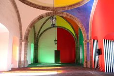 Daniel Buren's Colorful Labyrinth in Mexico