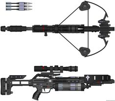 Understanding Crossbow, Recurve Bow, Compound Bow and Hunting Accessories Sci Fi Weapons, Concept Weapons, Weapons Guns, Boar Hunting, Turkey Hunting, Crossbow Hunting, Crossbow Arrows, Archery Hunting, Hunting Gear