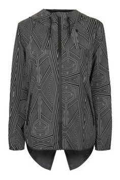 Reflective Print Wrap Back Jacket by Ivy Park