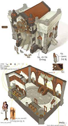 Art In G (GA Academy) background casual games won ▶ half gimdogyeong instructor curriculum: Naver Cafe: Fantasy City, Fantasy House, Fantasy Places, Building Concept, Building Art, Building Design, Bg Design, Game Design, Concept Architecture