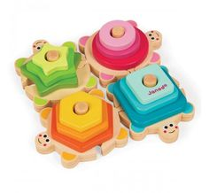 Janod - Wooden Stacking Puzzle Turtle - Christmas Catalogue - Our Products - Entropy Australia lots of fun learning shapes Stacking Blocks, Stacking Toys, Learning Colors, Fun Learning, Learning Shapes, Toddler Toys, Baby Toys, Planets Activities, Wood Turtle