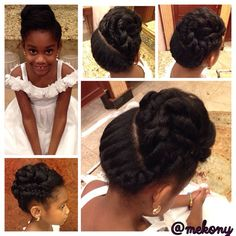 mekony (Simeko Watkins-Hartley) on Instagram. I just can't get enough of this cutie's updo! :)
