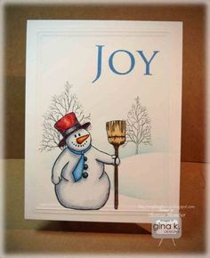 Snowman Joy card project- today on StampTV!