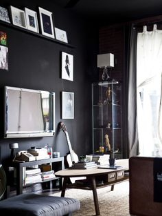 Be brave – paint your walls black! Blank canvases don't always have to be white #IKEAIDEAS