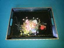 Risultati immagini per vassoio antico in legno e vetro