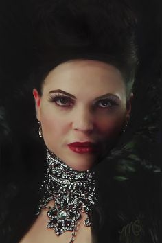 Awesome digital art of @LanaParrilla created by @akemi19 with Corel Painter.