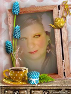 Your funny photo is ready! Funny photo card Morning Tea. Have fun with FunPhotoBox