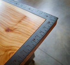 Nice idea, framing square set into benchtop corner.