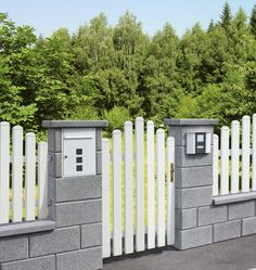 Fence Gate, Fences, Wall Railing, Compound Wall, Wood Projects That Sell, Facade, House Plans, Porch, Garage Doors