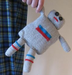 Knitted Robot by TheRobinsonsHouse on Etsy,