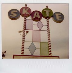 Just this word on a sign takes me back to skating rinks from my childhood - how I loved them!!