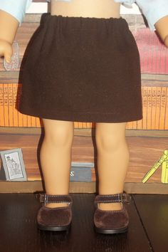Chocolate Brown Stretch Twill Basic Skirt by GomunkCreations, $9.00