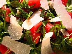 Watermelon and Arugula Salad recipe from Ina Garten via Food Network