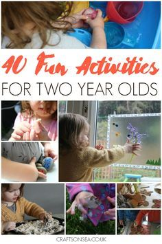 Need some inspiration? Check out these fun activities for two year olds with ideas for crafts, sensory play, outdoor activities and more! #kidsactivities #eyfs #kidscrafts #sensory #craftsonsea
