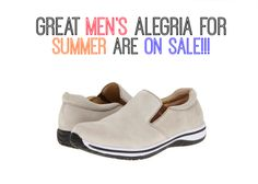 Check out all the Men's shoes that are on sale, plus see all the great men's sandals just in time for Spring! | Alegria Shoe Shop #AlegriaShoes #Mens #sandals