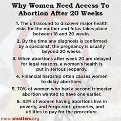 Abortion and Reproductive Rights | Reminder of Why Abortions After 20 Weeks Must Be Legal-