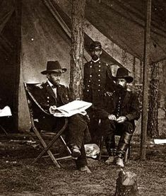 General U.S. Grant in camp. It was created between 1861 and 1865.