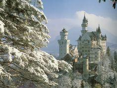 Kids-n-fun | Wallpaper neuschwanstein castle, bavaria, germany forest snow