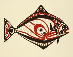 Roy Henry Vickers Halibut.  Such an awesome artistic from BC Canada.