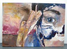 Mask self portrait - Oil on canvas