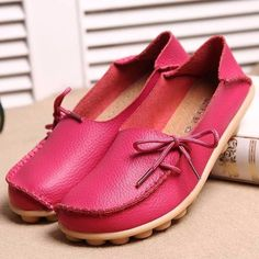 ed34115c0b8 Hot-sale Big Size Pure Color Slip On Lace Up Soft Sole Comfortable Flat  Loafers