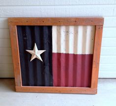 Rustic Texas Metal FlagTexasGod Bless by Kreationsbykellyr on Etsy