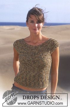 Free crochet sweater pattern - would be cute if the pattern is extended to make it a little longer... (Hit at hip vs midriff...)