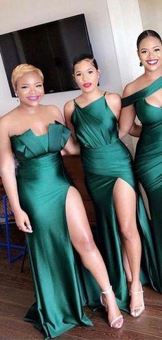 Mismatched Emerald Green Long Bridesmaid Dresses Online, Cheap Bridesm – LoverBridal Emerald Green Dress Long, Emerald Green Bridesmaid Dresses, Green Wedding Dresses, Cheap Bridesmaid Dresses Online, Mismatched Bridesmaid Dresses, Cheap Homecoming Dresses, Wedding Bridesmaid Dresses, Bridesmaids, Satin
