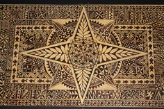 Beautiful tapa cloth of Tonga. Polynesian Designs, Polynesian Art, Hawaiian Art, Hawaiian Quilts, Tapas, Tongan Tattoo, Tongan Culture, Tropical Art, Pyrography