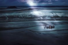 Tourists walk through the mud flats at Mont St. Michel in France!
