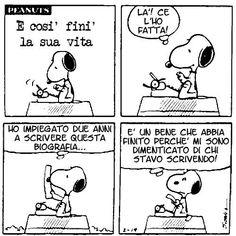 snoopy-biografo Snoopy Comics, Peanuts Comics, Brown Co, Lucy Van Pelt, Italian Humor, Peanuts Snoopy, More Than Words, Woodstock, Charlie Brown
