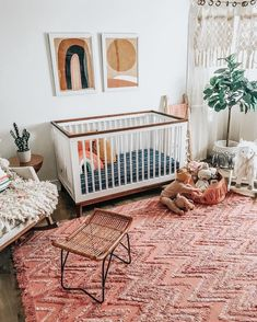 Awesome baby nursery info are offered on our internet site. Check it out and you wont be sorry you did. Chic Nursery, Nursery Neutral, Nursery Room, Rugs In Nursery, Hippie Nursery, Bohemian Nursery, Girl Nursery Decor, Baby Room Rugs, Orange Nursery