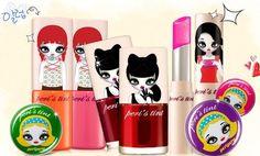 Artist Mari Kim's designs on the Korean brand Peripera makeup line.