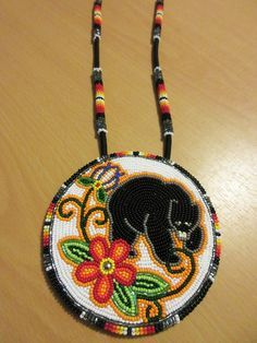 floral iroquois beadwork bears and Native Beading Patterns, Beadwork Designs, Bead Embroidery Patterns, Beaded Jewelry Patterns, Beaded Embroidery, Indian Beadwork, Native Beadwork, Native American Beadwork, Beaded Lanyards