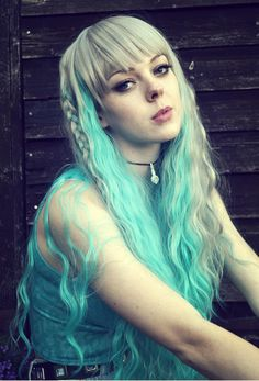 Image of Star Showers, Grey Green Crimped Waves Gothic Lolita Cosplay Wig