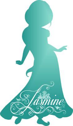 Jasmine Silhouette - Disney Princess